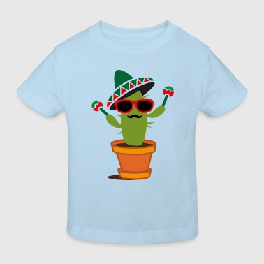 Cactus with sombrero and maracas  - Kids' Organic T-shirt