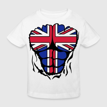 drapeau flag anglais english corps muscl - T-shirt bio Enfant