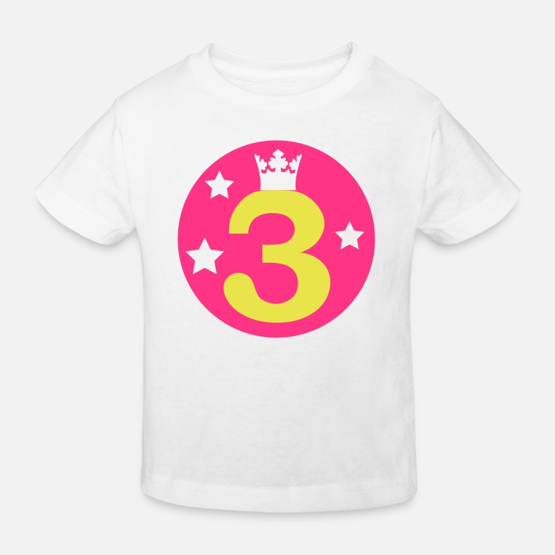 Girl T-Shirts - I am 3 years old! - Kids' Organic T-Shirt white