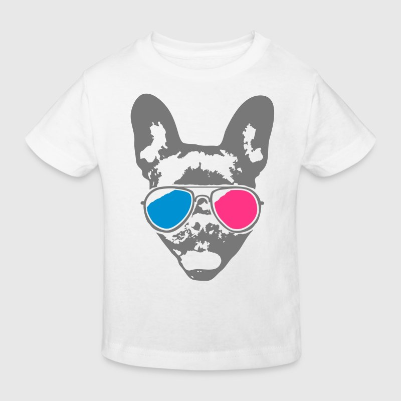 Cool Bulldog - 3D - Kinderen Bio-T-shirt