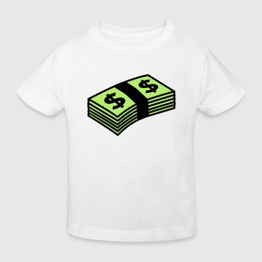 Money dollars Color - Kinderen Bio-T-shirt