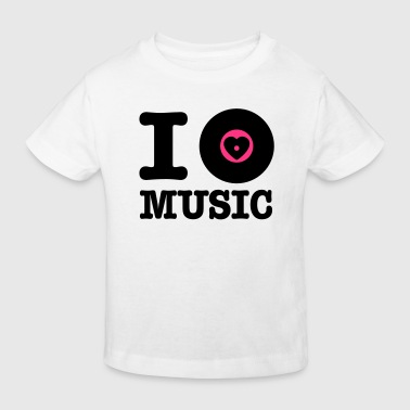 i vinyl love music - Kinderen Bio-T-shirt