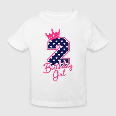 Zweiter Geburtstag-Second Birthday-Birthday Girl - Kinder Bio-T-Shirt