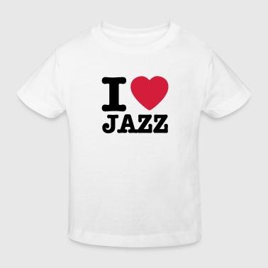 I love jazz / I heart jazz - Organic børne shirt