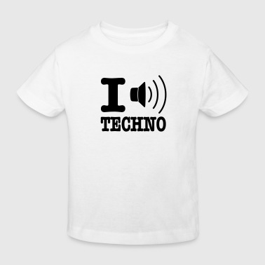 I love techno / I speaker techno - Kinder Bio-T-Shirt