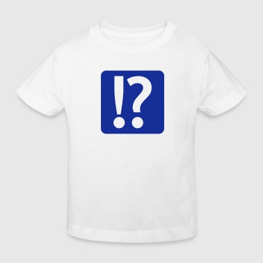 exclamation mark and question mark - Ekologisk T-shirt barn