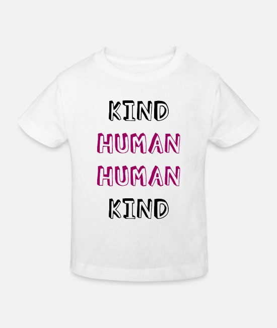 Love T-Shirts - human child 2 - Kids' Organic T-Shirt white