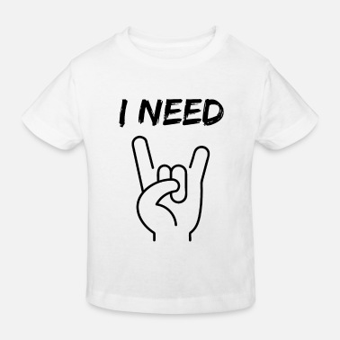 Skull I NEED METAL / ROCK - T-shirt bio Enfant