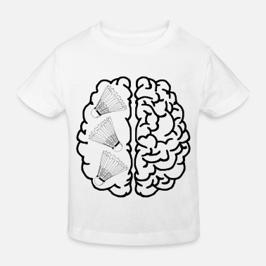 Brain Badminton shuttlecock gift brain head player - Kids' Organic T-Shirt