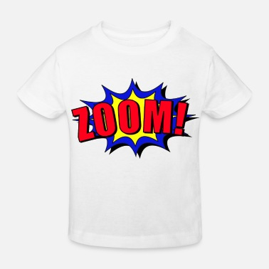 Tekstballon Zoom cartoon speech bubble - Kids' Organic T-Shirt