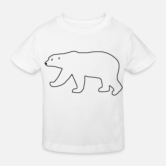 Polar Bear Baby Clothes - Polar contour - Kids' Organic T-Shirt white