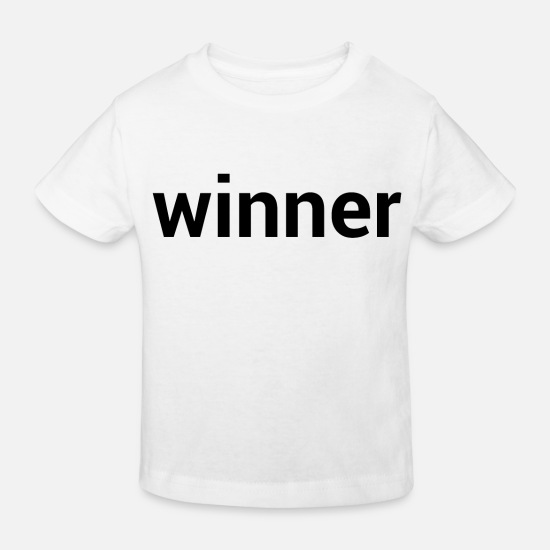 World Champion Baby Clothes - Winner - Winner - Winning - Winner Type - Kids' Organic T-Shirt white