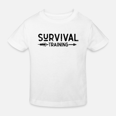Present Survive Bushcraft Wilderness Survival Prepper - Kids' Organic T-Shirt