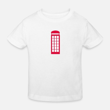 Booth Phone booth - Kids' Organic T-Shirt
