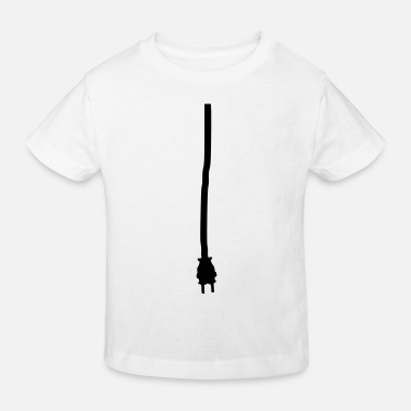 Connector Jack or connector for getting power - Kids' Organic T-Shirt