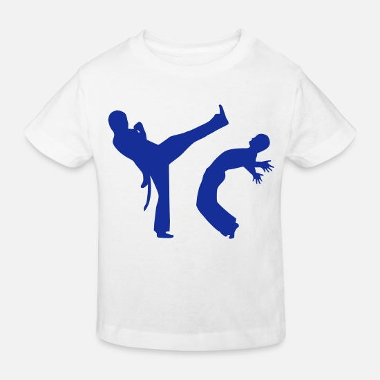 Music Baby Clothes - Capoeira - Kids' Organic T-Shirt white