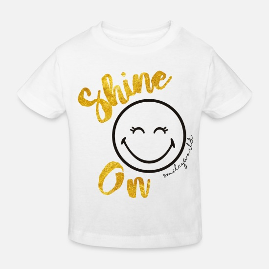 School Baby Clothes - SmileyWorld Always shine on - Kids' Organic T-Shirt white