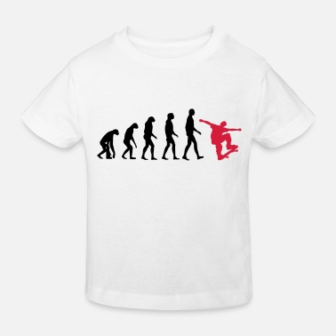 Skateboard Skater evolution - skateboard - skating - gift - Kids' Organic T-Shirt