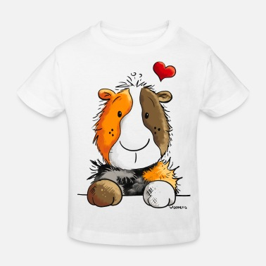 Rodent I love Guinea Pigs - Pig - Cartoon - Heart - Gift - Kids' Organic T-Shirt