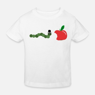 Chenille Caterpillar Apple Food - T-shirt Enfant - T-shirt bio Enfant