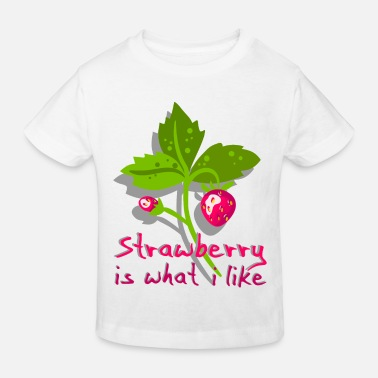 Banana Strawberry is what I like - fruit - Kids' Organic T-Shirt