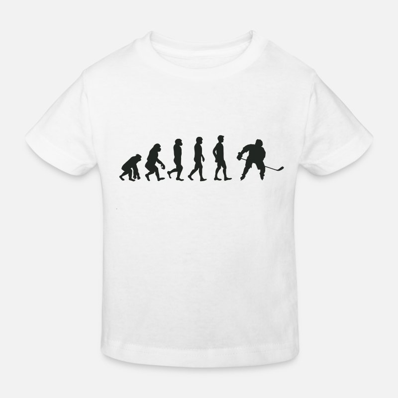 Development T-Shirts - Evolution ice hockey - Kids' Organic T-Shirt white