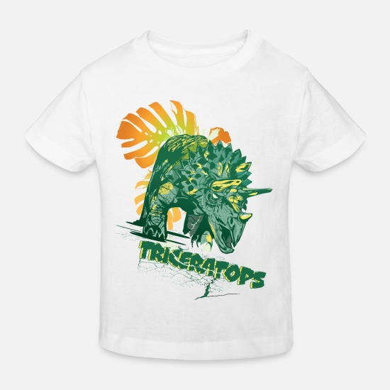 Animal Planet Baby Clothes - Animal Planet Triceratops - Kids' Organic T-Shirt white