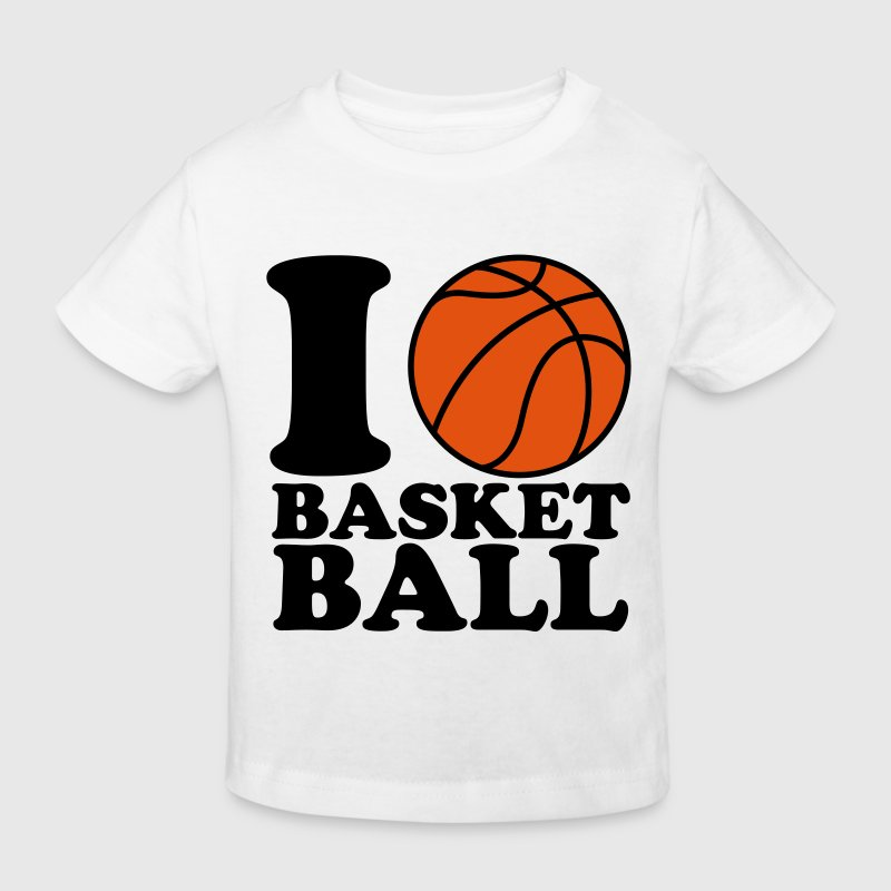 I Love Basketball - Kids' Organic T-shirt