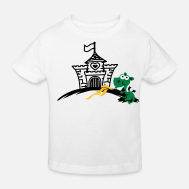 Baby dragon spits fire - Ekologisk T-shirt barn