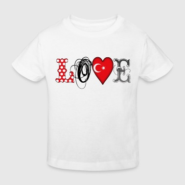 Love Turkey Black - Kids' Organic T-Shirt