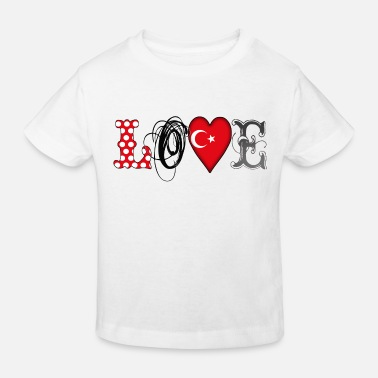 Mittelmeer Love Turkey Black - Kids' Organic T-Shirt
