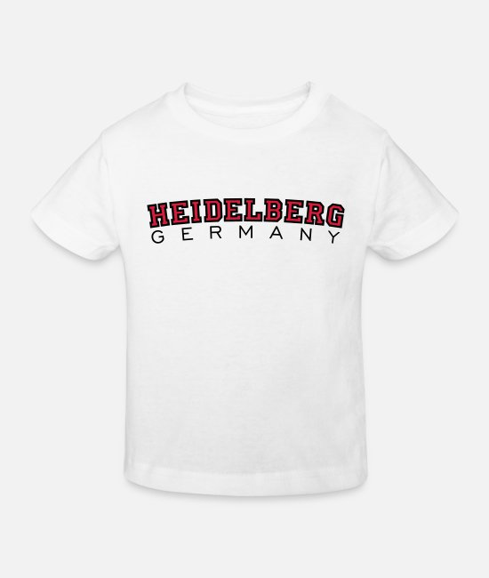 Deutschland T-Shirts - Heidelberg Germany Red/Black - Kids' Organic T-Shirt white