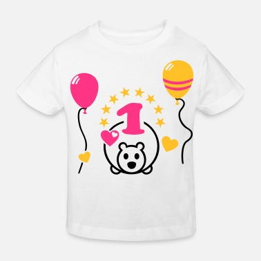 1st Birthday One year old - Happy First Birthday Party ! 1 - Kids' Organic T-Shirt