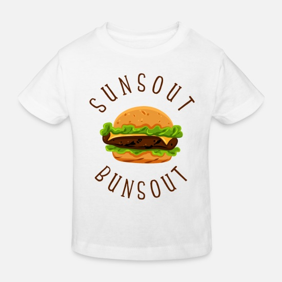 Frites Vêtements Bébé - Burger - Suns out Buns Out - T-shirt bio Enfant blanc