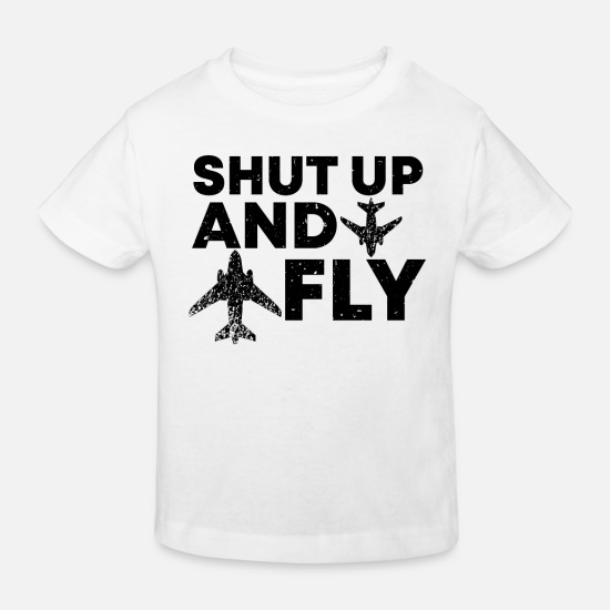 Travel Baby Clothes - Pilot pilots gift - Kids' Organic T-Shirt white