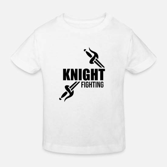 Gift Idea Baby Clothes - Combat Knight Tournament Knights Combat Helmet Medieval - Kids' Organic T-Shirt white