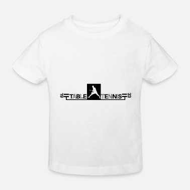 Tennis de table Ping Pong - T-shirt bio Enfant