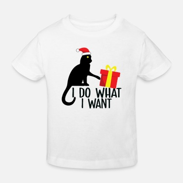 i do what i want christmas cat - T-shirt bio Enfant
