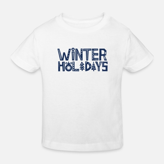 Travel Baby Clothes - Team Holidays Winter Holidays Winter Holidays Ski Holidays - Kids' Organic T-Shirt white