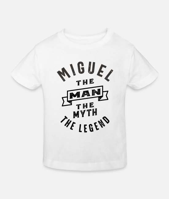 Father's Day T-Shirts - Miguel Personalized Name Birthday Gift - Kids' Organic T-Shirt white