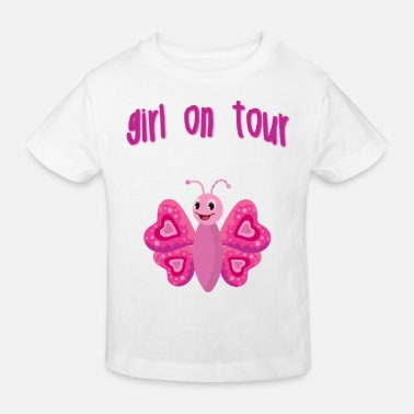 Girl on the go - Kids' Organic T-Shirt