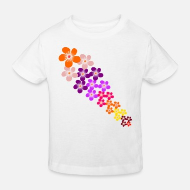 colorful flowers tendril flower colorful - Kids' Organic T-Shirt