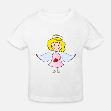 Sweet angel with a halo and heart - Kids' Organic T-Shirt