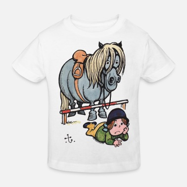 Thelwell Funny Showjumping Gone Wrong - Kids' Organic T-Shirt