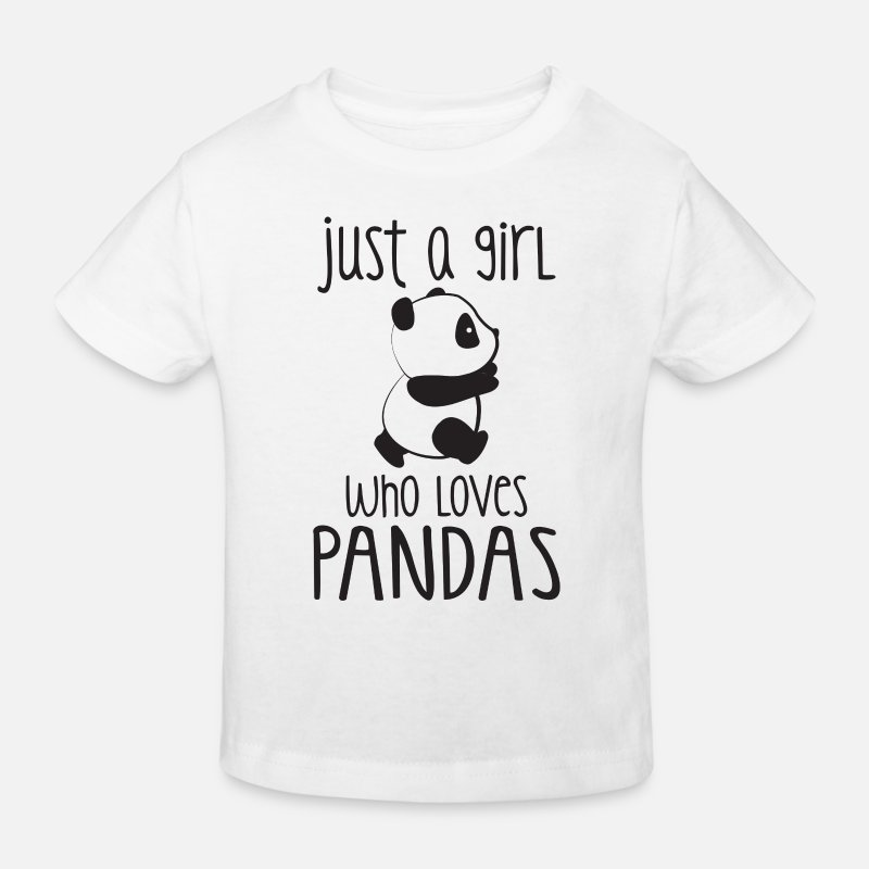 Panda T-Shirts - Just a girl who loves Pandas - Kids' Organic T-Shirt white