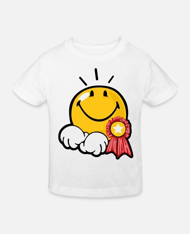 Emoticon T-Shirts - Smiley Award - Kids' Organic T-Shirt white
