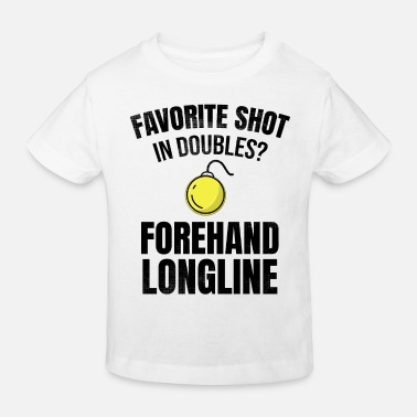 Longline Tennis doubles | Double player forehand longline - Kids' Organic T-Shirt