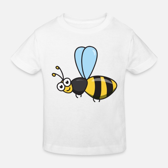 Garden Baby Clothes - Bee honey bee - Kids' Organic T-Shirt white