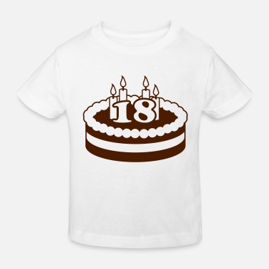 Happy Birthday 18 Happy Birthday Cake - Økologisk T-shirt til børn