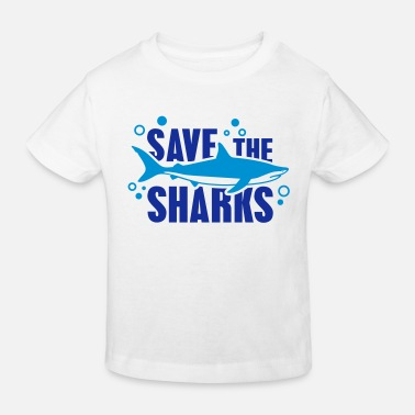 Anti save_the_sharks_1_f2 - Maglietta ecologica per bambini
